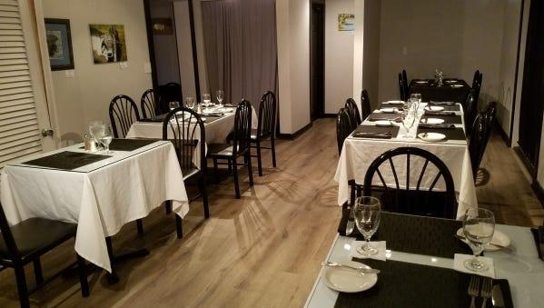 Inside 1120 Prime, a steakhouse in Hobe Sound.