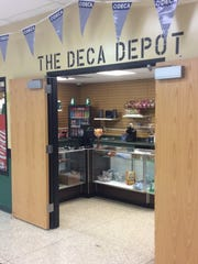 The DECA Depot offers items students can buy during the school day.