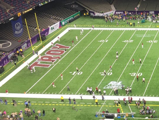 Inside the Superdome before Saturday's New Orleans