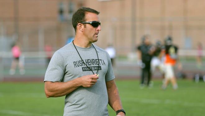 Rush-Henrietta head football coach Joe Montesano is in his 11th season as the Comets' head coach.