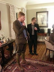 Jón Gnarr and Chad Post at the Kellogg home in Rochester.