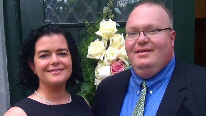 Me and Matt Connor wedding