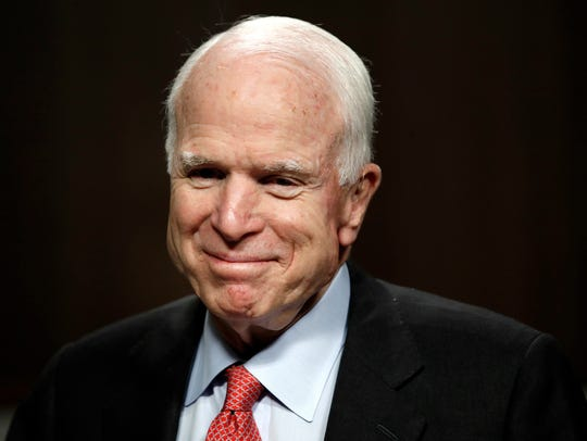 Among five elected officials included in the poll, Sen. John McCain, R-Ariz., receives the highest overall ranking for symbolizing what is best about America.