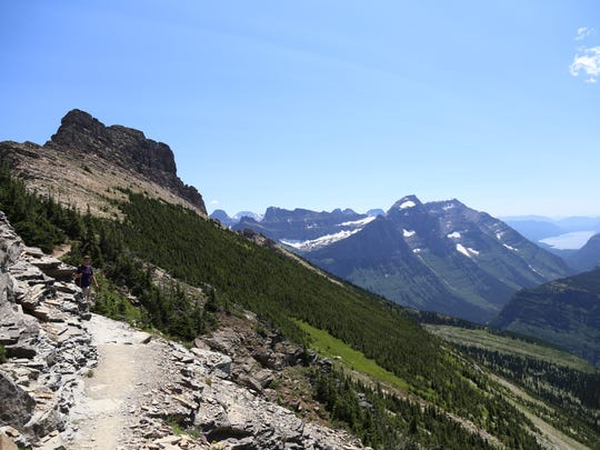 Make sure to wear proper clothes for the conditions in Glacier, and know your abilities. For example, the Granell Glacier Overlook off Highline Trail is steep and full of loose rock.