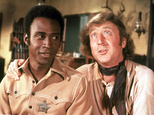 Cleavon Little (left) and Gene Wilder push the envelope