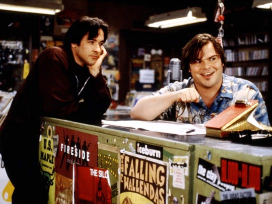 "John Cusack and Jack Black (in ""High Fidelity"") are"