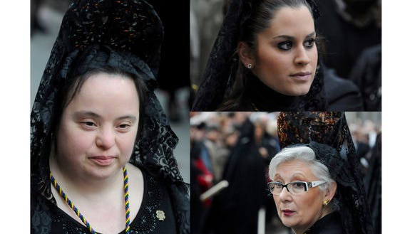 Faces in the Easter Procession.