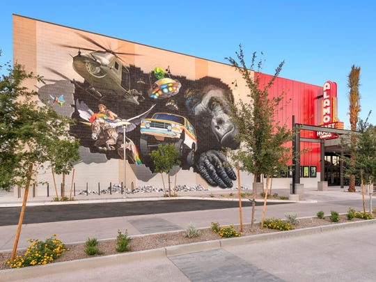 The west wall of Alamo Drafthouse Cinema in Tempe features