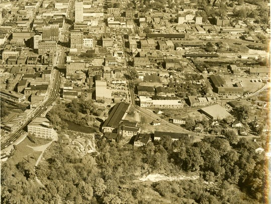 This April 10, 1958 photo shows the Camperdown mills