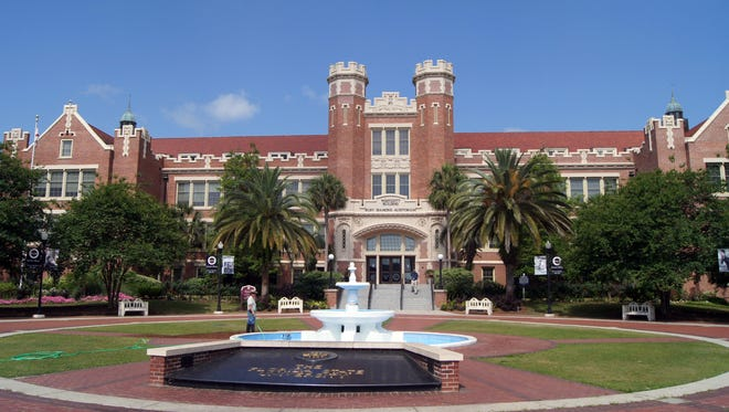 Florida State University's Wescott Fountain is one of the stops on the Tallahassee Segway Tours.