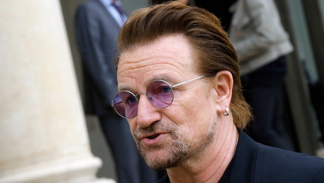 Irish rock star Bono warned Monday, July 2, 2018, that the United Nations and other international institutions including the European Union and NATO are under threat, and nations must work together to ensure their continued existence.
