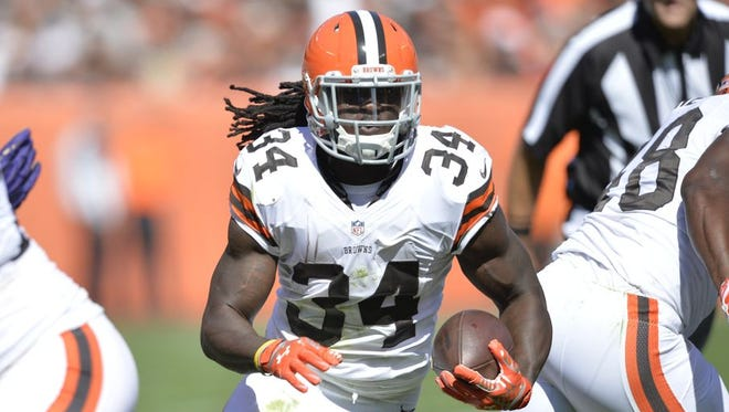 Former Alabama State star Isaiah Crowell scored his fifth rushing touchdown in Thursday night's win at Cincinnati