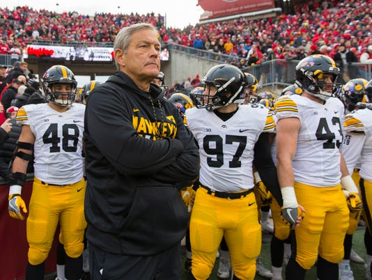 NCAA Football: Iowa at Wisconsin