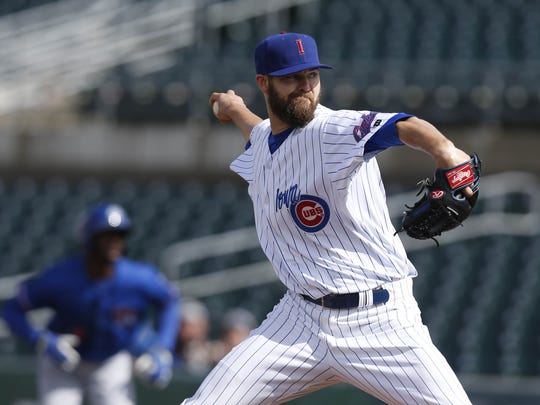 Pitcher Ryan Williams is back for his second stint with the Iowa Cubs.