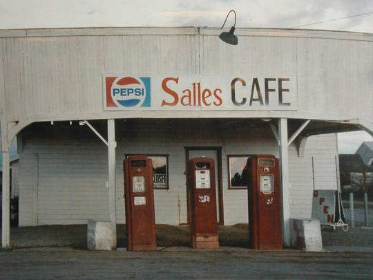 This picture of pre-renovation Salles Café dates back many decades. The 2006 remodel and later improvements improved the looks and almost tripled the size of the building, which today seats 150 in the main dining room and two meeting rooms.