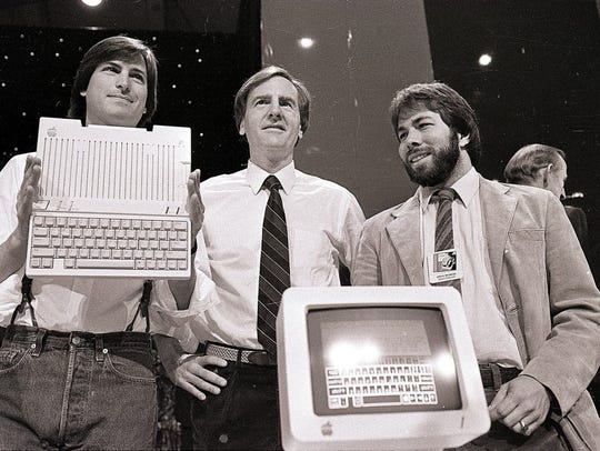 In this 1984 photo. Apple co-founder Steve Wozniak,
