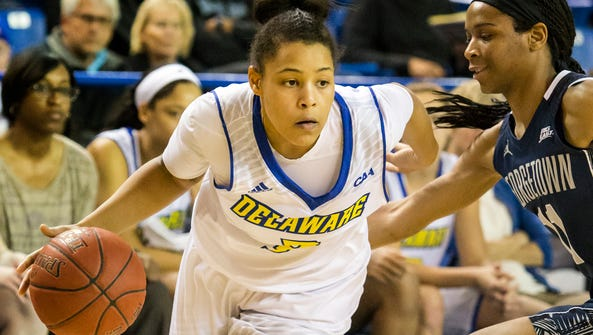 Erika Brown had 21 points in Delaware's overtime loss