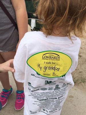 More than 100 people participated in the second annual Lombardi Walk to Tackle Cancer on Saturday, June 24, 2017, at Neshotah Beach in Two Rivers. The event raised more than $12,500 for cancer care. All money stays in Manitowoc County.