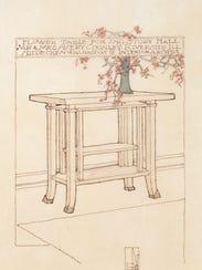 """George Mann Niedecken's """"Design for Second-Floor Hall"""