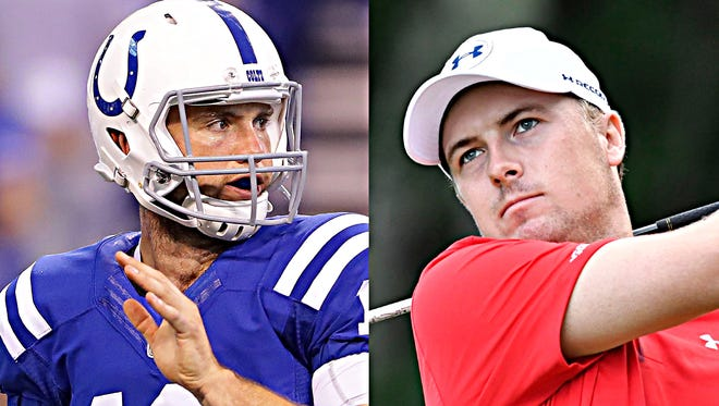 Andrew Luck or Jordan Spieth? Colts or golf? Fans will have to choose Sunday afternoon.