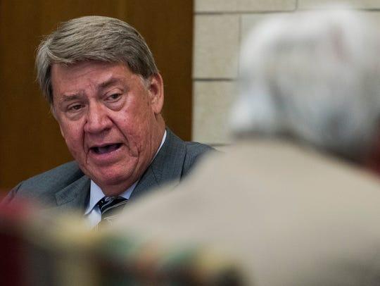 Montgomery City Councilman Richard Bollinger speaks