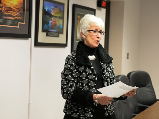 Indian River School Superintendent Dr. Susan Bunting comments to the media after the Nov. 22, 2016 vote tally that showed a defeat for the district's referendum for additional funding.