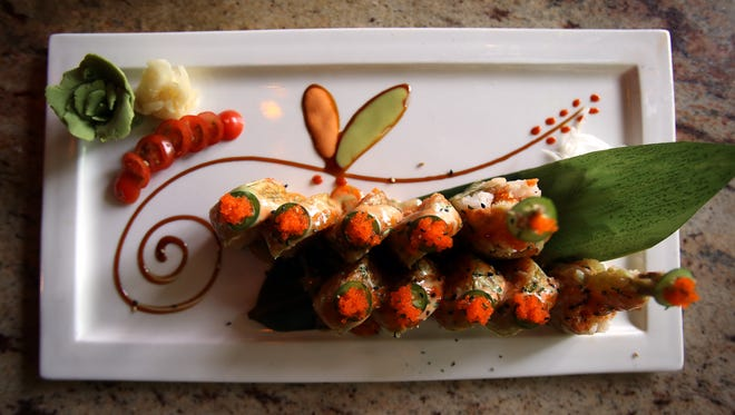 Sogo Sushi House signature dish, the '2016 Roll', Sogo is a 7-year-old Asian fusion restaurant that seats up to 280 people between its hibachi, lounge, bar, and patio areas. May 17, 2016. Denville, N.J.