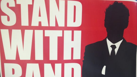 Stand with Rand sign.