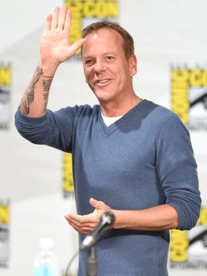 """Actor Kiefer Sutherland attends the """"24: Live Another Day"""" panel during Comic-Con International 2014 at the San Diego Convention Center on July 24, 2014 in San Diego, California."""