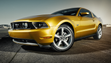 "2010 Ford Mustang GT with ""Vista Roof"": The fifth generation Mustang was redesigned for the 2010 model year with more sculpted haunches and new front and rear fascias."