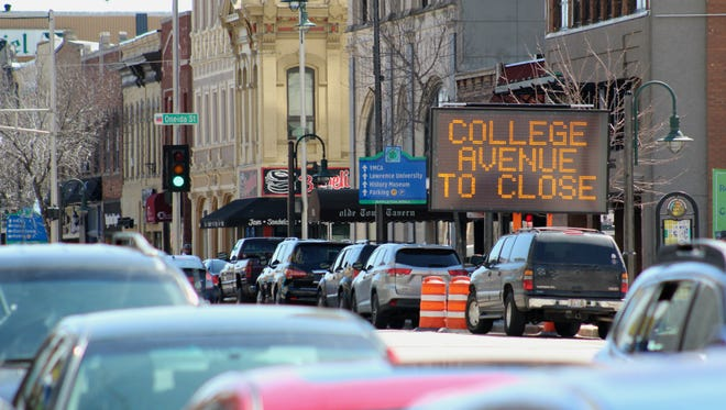 College Avenue will be closed in parts of downtown Appleton starting April 30 to give crews a chance to replace crosswalks at several intersections.