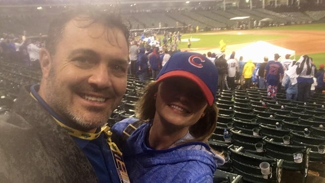 Rain did not put a damper on the Cubs' World Series celebration in Cleveland.