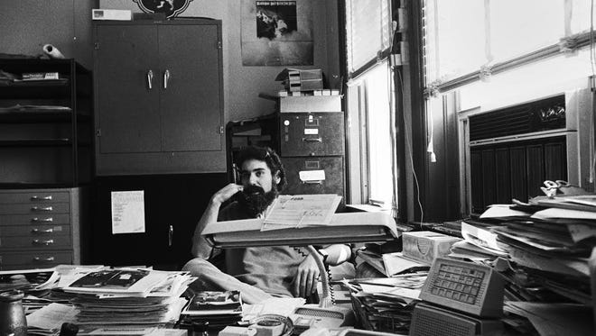 Ric Siegel in CREEM's art department in its downtown Birmingham offices.