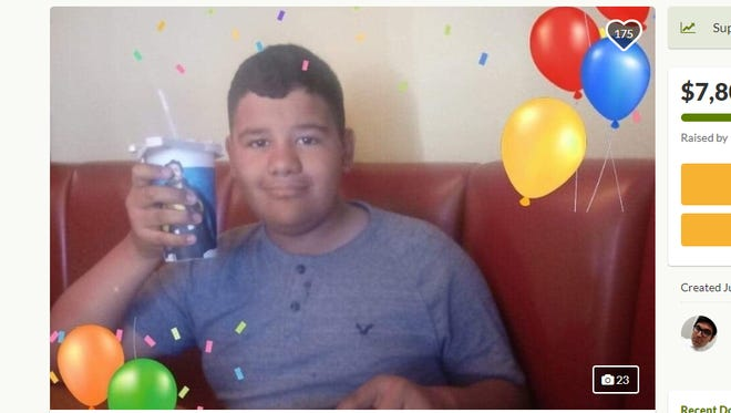 The family of a Goodyear boy who was killed in a car accident is raising funds to help with medical and funeral expenses.