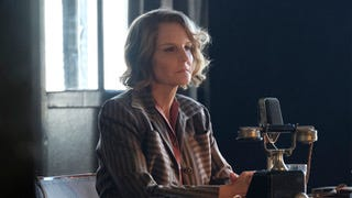 "Helen Hunt plays American broadcaster and journalist Nancy Campbell on ""World on Fire."""