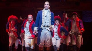 """Lin-Manuel Miranda and the original Broadway cast of """"Hamilton."""""""