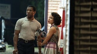 "Jonathan Majors and Jurnee Smollett face racism and monsters in ""Lovecraft Country."""