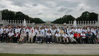 World War II veterans from Rockland and Westchester pose during their trip to Washington, D.C., courtesy of Hudson Valley Honor Flight.