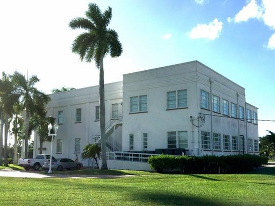 A view of the Everglades City Hall, Tuesday, Oct. 20, 2015, 10 years after Hurricane Wilma caused extensive damage to the building. It suffered roof and water damage during the storm.