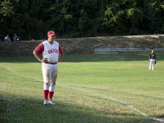 Nate Neff  looks on during Windsor's game against Red