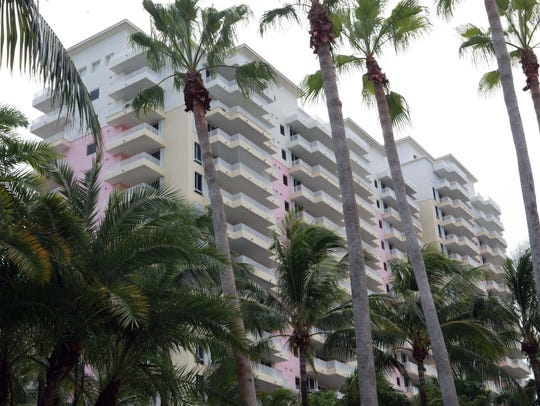 The Bayhs own a condo in this building in Key Biscayne,