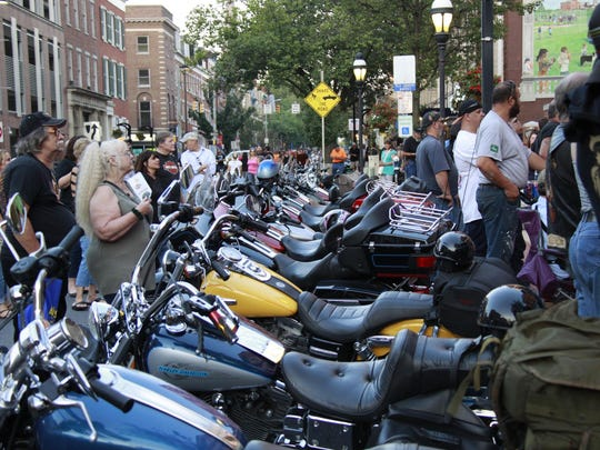 Riders from all over York County parade during York Bike Night 2016, Friday, September 23, 2016.