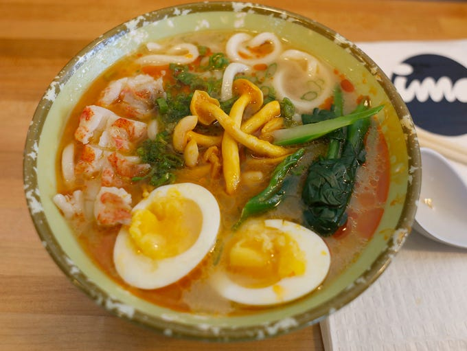 Ise-ebi udon soup is served as one of the coursed during