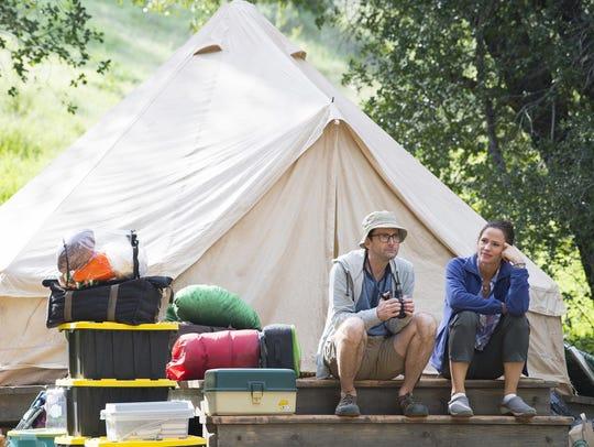"David Tennant, left, and Jennifer Garner from ""Camping,"""