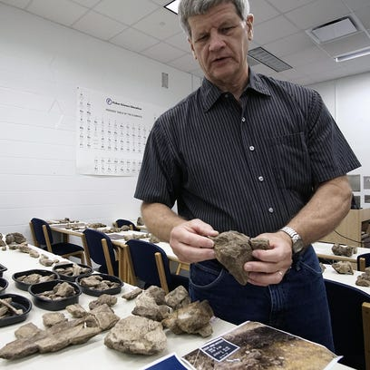Nigel Brush, professor of geology, talks about a find