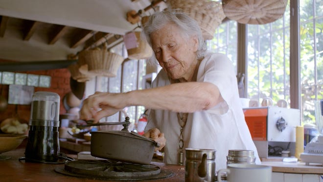 """Diana Kennedy in a scene from the documentary """"Diana Kennedy: Nothing Fancy."""" An Englishwoman, Kenney became one of the most respected authorities on Mexican food."""