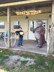 Fifth-graader Nathan Inman won Walnut Groves Possum