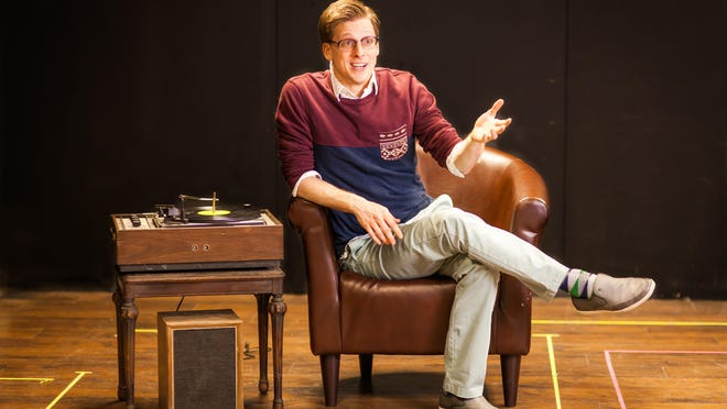 """Joshua Sedelmeyer stars as the narrator The Man in Chair in the Cider Mill Playhouse production of """"The Drowsy Chaperone."""""""