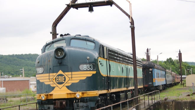 This engine in Port Jervis might be one of the last operational Erie Lackawanna locomotives, according to Fourth Ward Councilman Stan Siegel.