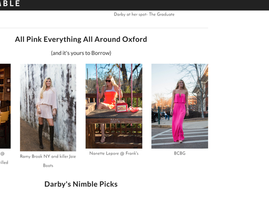 Similar to Rent the Runway Nimble allows users to rent